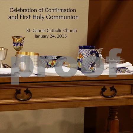 St. Gabriel 1st Comm/Confirmation Jan. 24, 2015